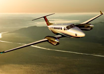 Beechcraft's King Air 350i turboprop twin.