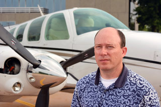 Mike Mercer and his Beechcraft Baron