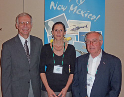 AOPA Southwest Regional Representative Shelly deZevallos (center), with newly appointed New Mexico State Aviation Director David Ploeger (left) and Tom Baca (right), the current aviation director.