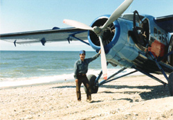 With a deHavilland Otter, his favorite airplane.