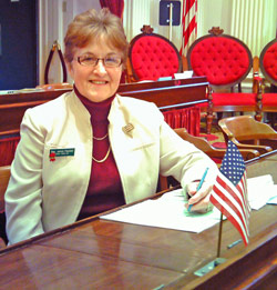Vermont Rep. Janice Peaslee has sat on the House transportation committee for 21 years. She earned her pilot certificate in November.