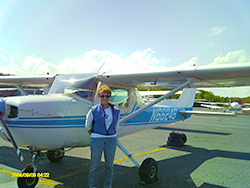 "Over the past year, Peaslee has kept two instructors busy flying with her in her Cessna 150. ""She would fly for hours if you let her,"" said instructor Natalie Brunetto."