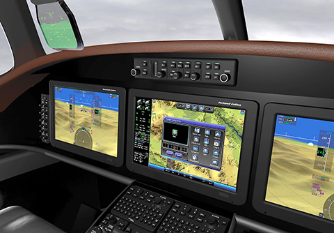 Rockwell Collins touch screens for King Airs