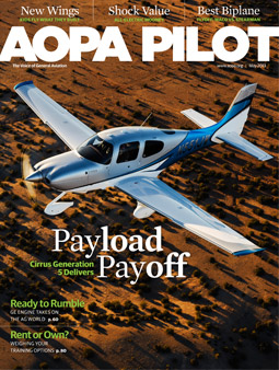 may 2013 issue of 'AOPA Pilot' magazine