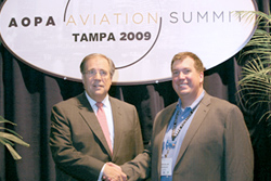 AOPA President Craig Fuller and NAFI Executive Director Jason Blair